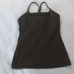lulu Lemon thin racer back top in black